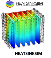 The HeatSinkSim app is the first of a series of Comsol Server apps developed by AltaSim Technologies made available on the AweSim platform. The app provides designers with the capability to examine the effect of heat sink design on thermal dissipation in power electronic components. Image Courtesy of AweSim