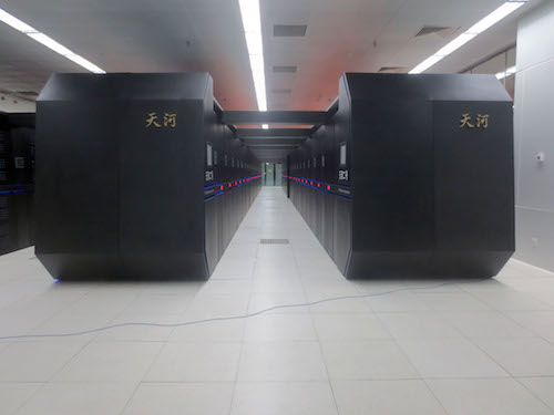 China's Tianhe-2 is the world's fastest HPC platform, nearly twice as fast as the U.S. Titan. Image Courtesy of Wikipedia