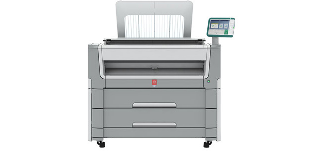 The Océ PlotWave 550 large-format monochrome printing system is designed to handle the technical document workflows of large engineering workgroups efficiently and securely. Image courtesy of Canon Solutions America.