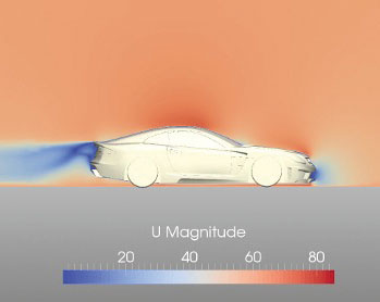 Automotive engineering firm Carlsson Autotechnik GmbH used SimScale's pay-as-you-go model to apply fluid flow simulation in aerodynamic development, a capability previously affordable only to Formula One racing teams and major auto OEMs. Image courtesy of Carlsson and SimScale.