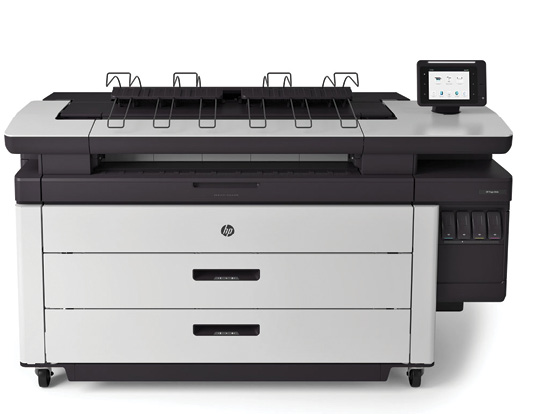 The HP PageWideXL 4000 allows shops produce eight D/A1-size prints per minute, helping teams increase on-the-job productivity. Image courtesy of HP.