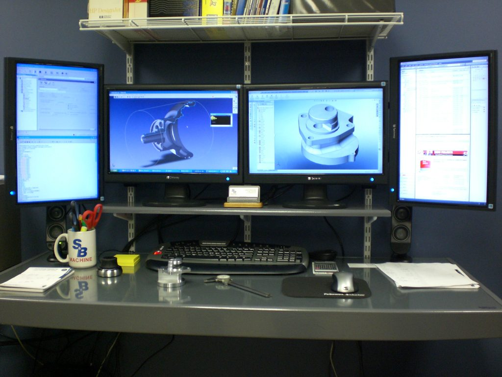 Studies show the use of multiple monitors increases productivity by up to 42%. Image courtesy of Dell.