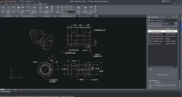 ARES Commander looks like AutoCAD, although it still lacks some AutoCAD capabilities.