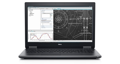 Billed as the world's most powerful mobile workstation, the new 17-inch Dell Precision 7730 is is 15% smaller than the previous generation and has a 128GB memory capacity with up to 3200MHz SuperSpeed memory. Image courtesy of Dell.